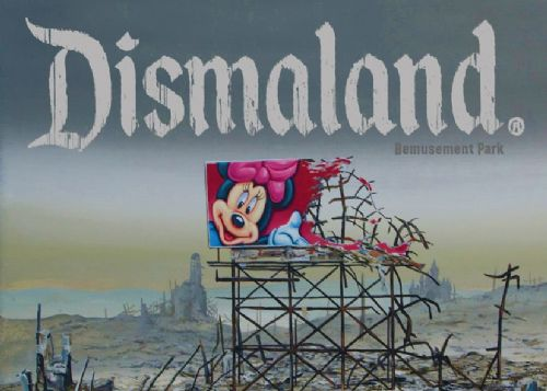 BANKSY - DISMALAND canvas print - self adhesive poster - photo print